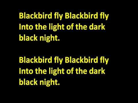 The Beatles Blackbird karaoke - backing track
