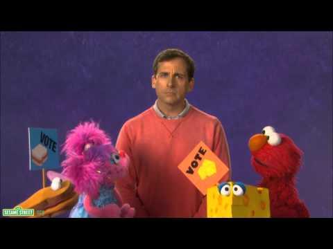 Sesame Street: Steve Carrell - Vote - YouTube