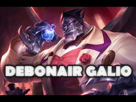 Debonair Galio Skin Spotlight Gameplay - League of Legends