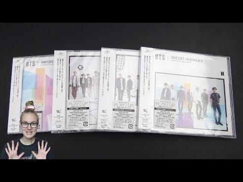 Unboxing BTS 防彈少年團 9th Japanese Single FAKE LOVE/ Airplane pt.2 [All 4 Editions]