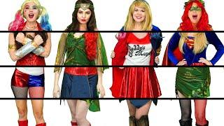 Baixar DC GIRLS CLOTHES SWITCH UP. HARLEY QUINN, WONDER WOMEN, SUPERGIRL & POISON IVY. Totally TV Parody