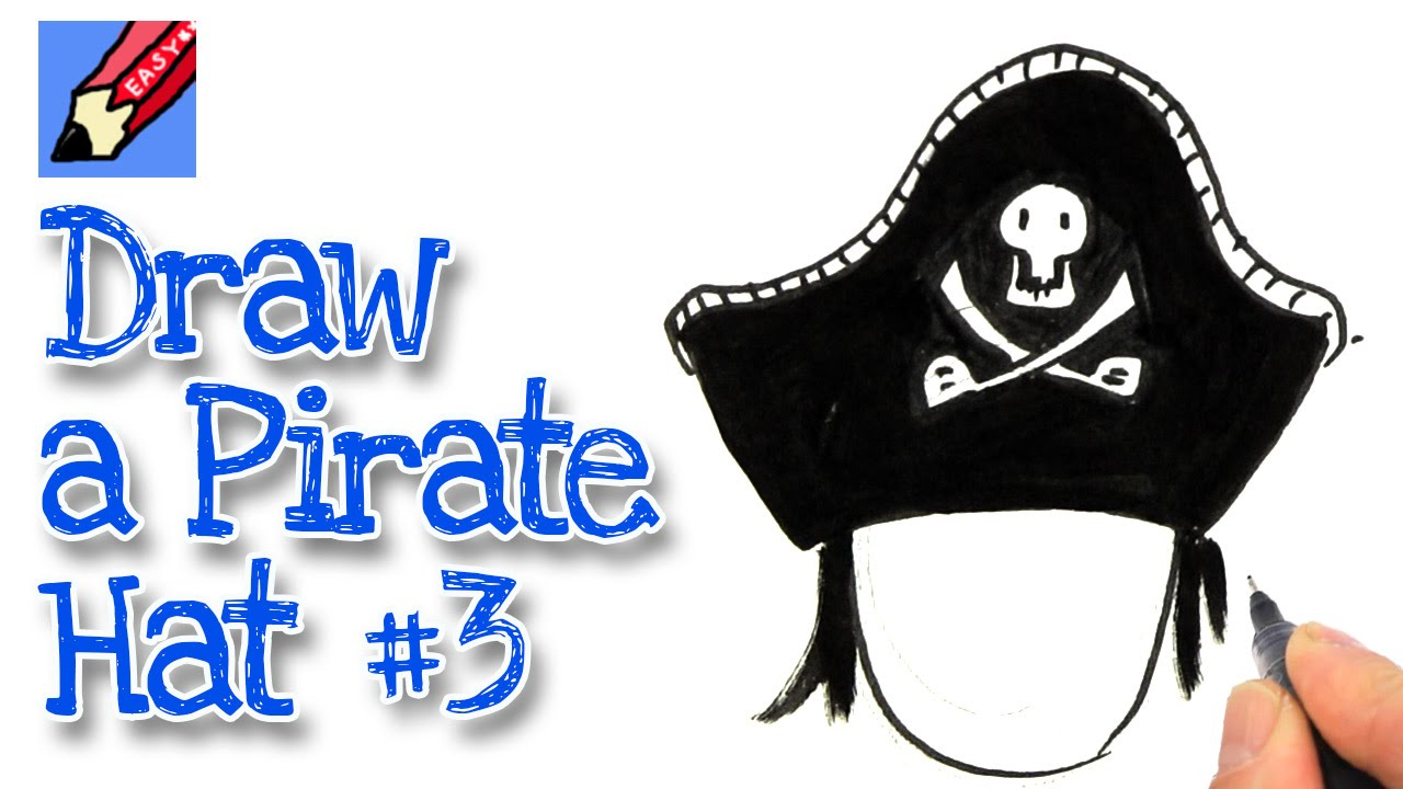 Pirate Hat Drawing How to draw a P...