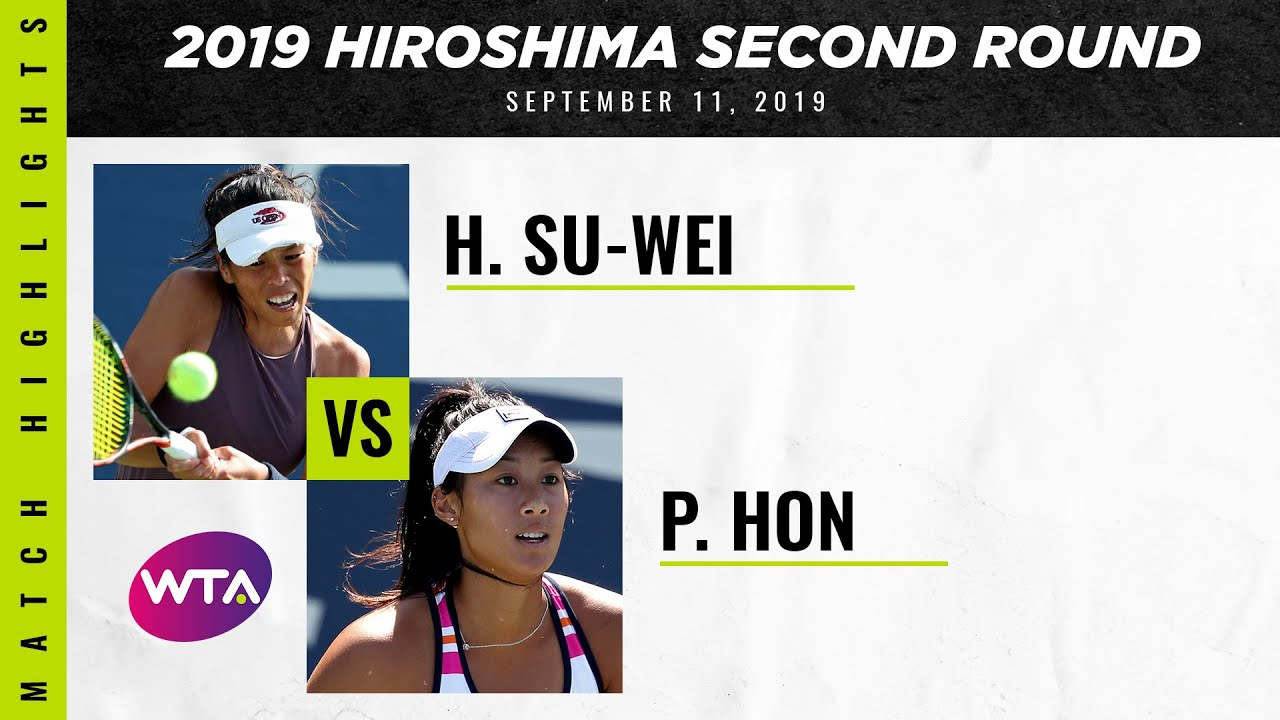 Hsieh Su-Wei vs. Priscilla Hon | 2019 Hiroshima Second Round | WTA Highlights