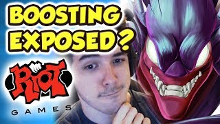 RIOT MEMBER EXPOSES MY DUO FOR BOOSTING!!! INSTANT 1-SH0TS | DOUBLE JUMP | DH KHA'ZIX IS GOD TIER!!!