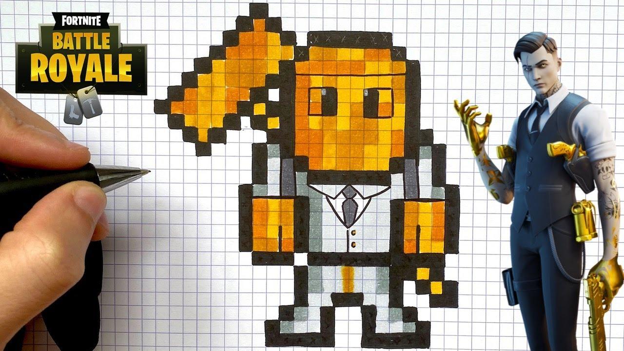 Como Desenhar Midas Pixel Art Skin Fortnite Youtube