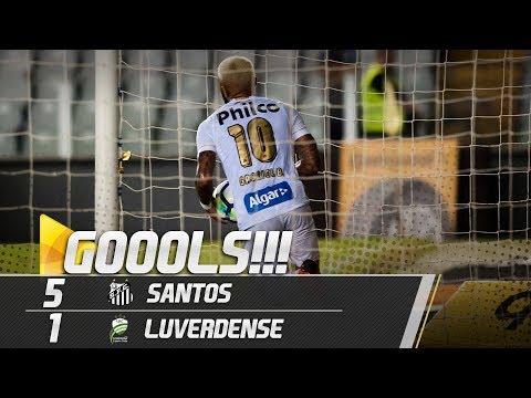 Santos 5 x 1 Luverdense | TODOS OS GOLS | Copa do Brasil (10/05/18)