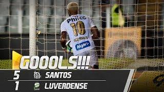 santos 5 x 1 luverdense todos os gols copa do brasil 100518