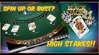 HIGH STAKES BLACKJACK! - Double Up or Double Down!? (Online Casino)
