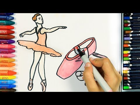 How to draw ballerina | Colors | Drawing and Painting for children | How to color
