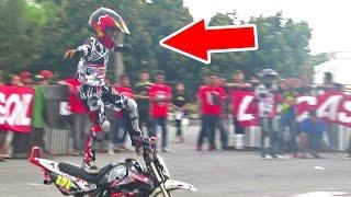 Anak Kecil Kelas 5 SD Atraksi Motor Stunt Rider Cilik Indonesia JOGJA BIKE FESTIVAL