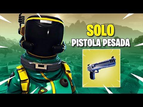 GANANDO SOLO CON PISTOLA PESADA !! - Fortnite: Battle Royale