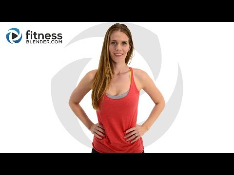 43 Minute Upper Body and Cardio Kickboxing Workout (with warm up & cool down)