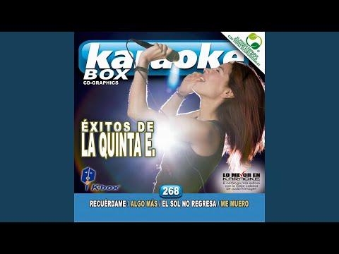 El Sol No Regresa (Karaoke Version)