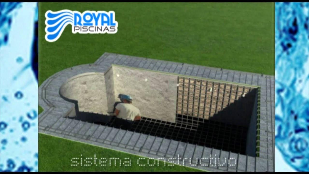 Royal piscinas sistema constructivo de piscinas youtube for Sistema ultravioleta para piscinas