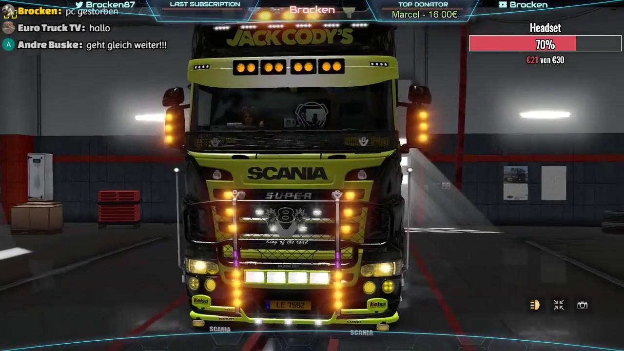 Ets 2 Scania Rjl Tuning Lights Youtube
