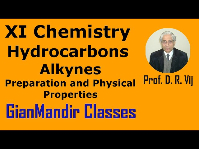XI Chemistry | Hydrocarbons | Alkynes | Preparation and Physical Properties by Ruchi Ma'am