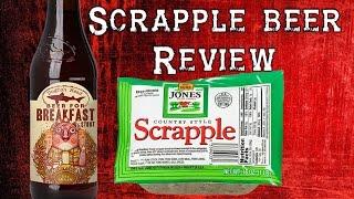 SCRAPPLE BEER! Dogfish Head - Beer for Breakfast - REVIEW