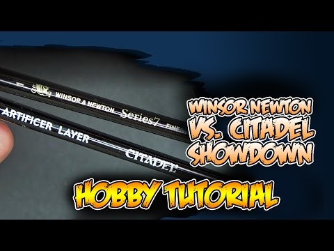 Citadel VS. Winsor & Newton Brushes - Which is Better? Hobby Head To Head