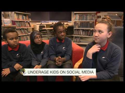 Underage kids using social media