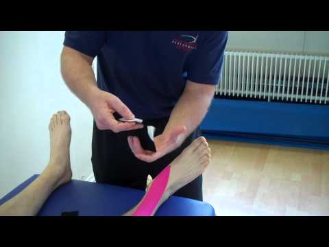 How To Apply Kinesiology Taping For Tibialis Anterior Tendonopathy (Anterior Shin Pain)