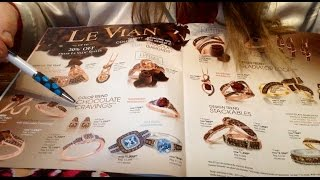 ASMR, Jewelry for Chocolate Lovers Only!  Kay Jewelers, New, Le Vian, Chewng Bubble Gum Soft Spoken