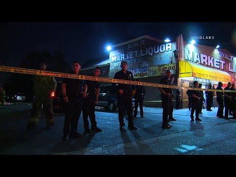 Liqour Store Homicide / South LA   RAW FOOTAGe
