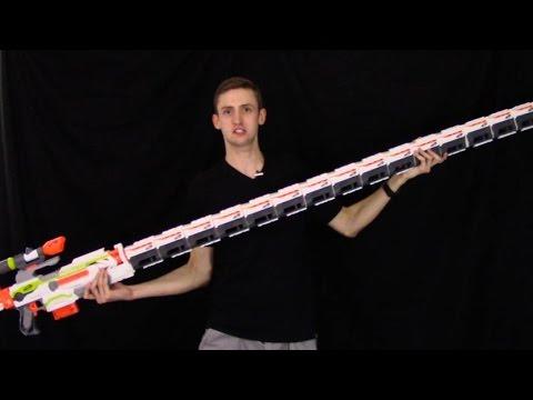 WORLD'S LONGEST NERF GUN?!