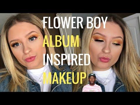 Tyler, the Creator: FLOWER BOY Album Inspired Makeup Look | Megs Vlog's