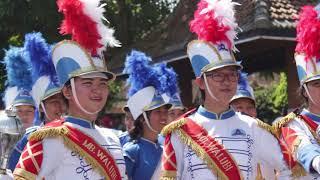Perform Marching Band Sekolah Dharma Widya @Candi Borobudur - Jawa Tengah