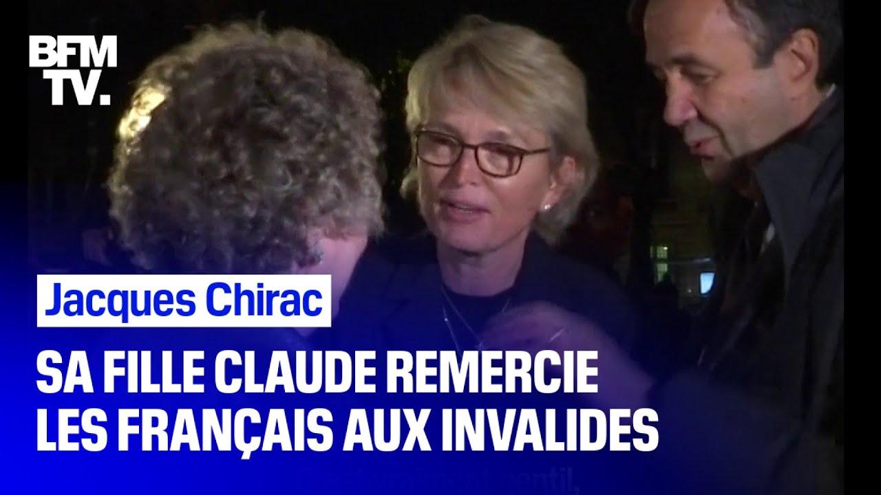 Les images de Claude Chirac remerciant les Français venus se recueillir aux Invalides