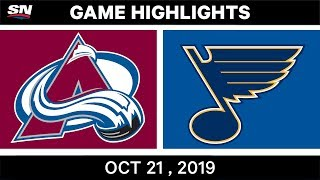 NHL Highlights | Avalanche vs Blues - Oct 21 2019