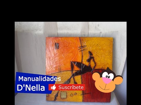 Manualidades cuadros abstractos 02 by taller dnella - Manualidades faciles cuadros ...