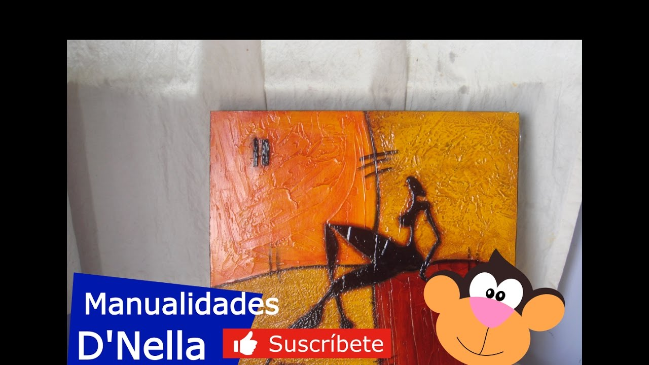 Manualidades cuadros abstractos 02 by taller dnella for Cuadros de manualidades modernos