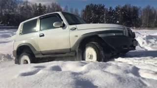 Тагаз Тагер, Паджеро и Шевроле Блейзер в снежном карьере