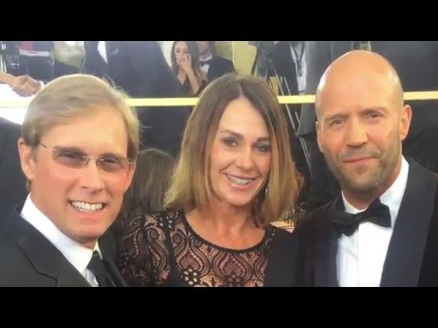 Nadia Comaneci, Bart Conner, Greg Louganis at the Golden Globes