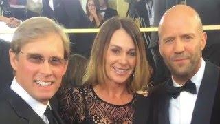Nadia Comaneci, Bart Conner, Greg Louganis at the Golden Globes