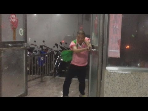 Man Almost Sucked Out Of Building By Super Typhoon Nepartak
