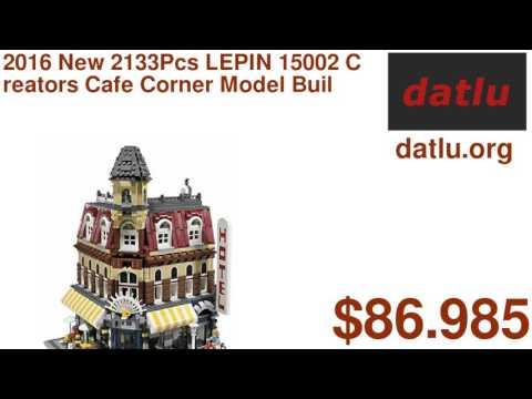 2016 New 2133Pcs LEPIN 15002 Creators Cafe Corner Model Building Kits Minifigure Blocks Kid Toy Gi