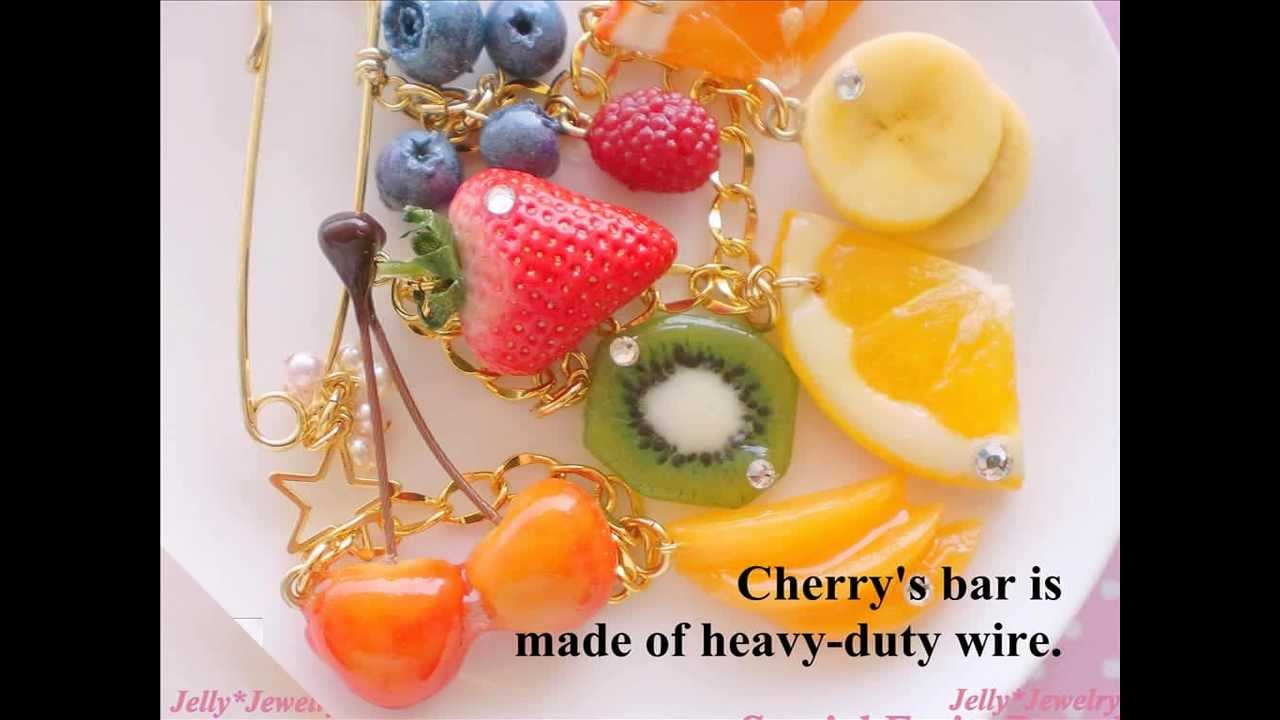 【Fruits jewelry which can\u0027t eat】made of polymer clay~樹脂粘土で作った~フルーツのアクセサリー♪  , YouTube