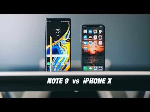 Samsung Galaxy NOTE 9 vs iPhone X - Battle of the $1000+ SMARTPHONES