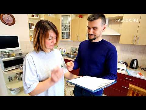 Замена фасадов и столешницы кухни от FASLUX.RU