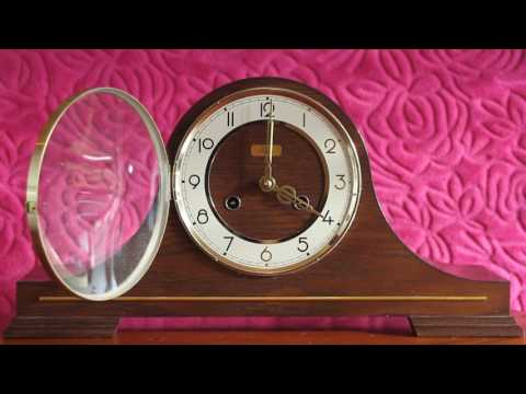 Vintage Art Deco Franz Hermle 8-Day Float Balance Mantel Clock with Chimes