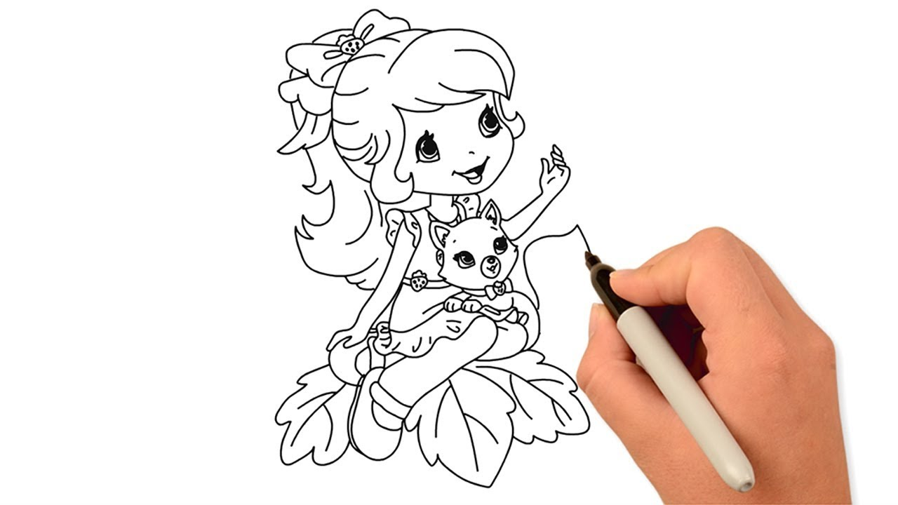 How To Draw A Cute Girl Draw For Kids Easy Drawing Ideas Art