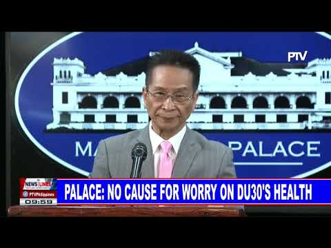 Palace: No cause for worry on PRRD's health