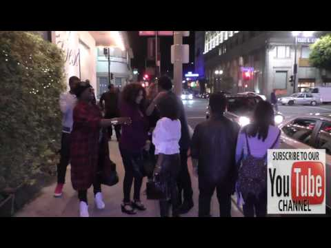 Tina Knowles and Richard Lawson leaving Beso Restaurant in Hollywood