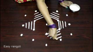 simple kolam designs with dots || easy and creative rangoli designs with dots ||easy muggulu designs