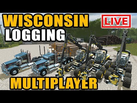 FARMING SIMULATOR 2017 | MULTIPLAYER FORESTRY WITH 3 SCORPION KINGS & 2 SEMIS HAULING | LIVESTREA |