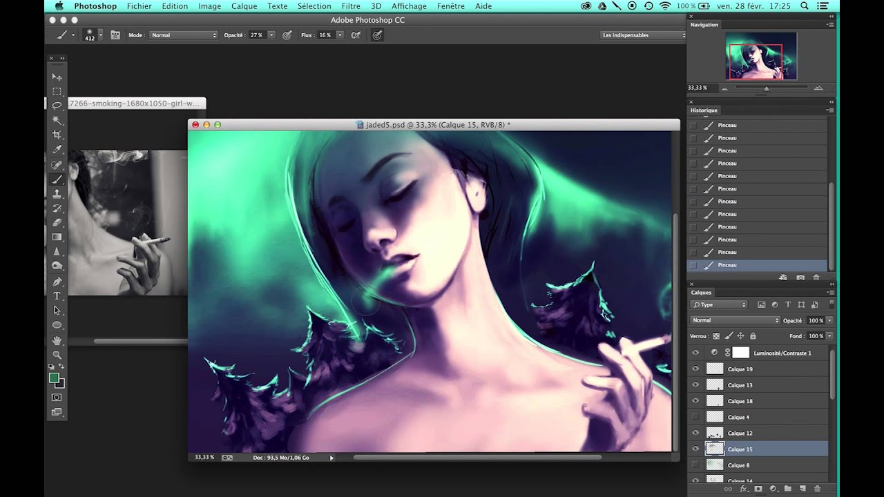 First steps of jaded digital art painting photoshop cc first steps of jaded digital art painting photoshop cc aquasixio youtube baditri Image collections