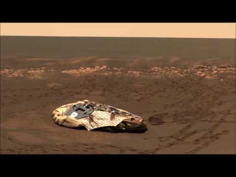 UFO NEAR OPPORTUNITY ROVER LANDING SITE. Watch in HD.