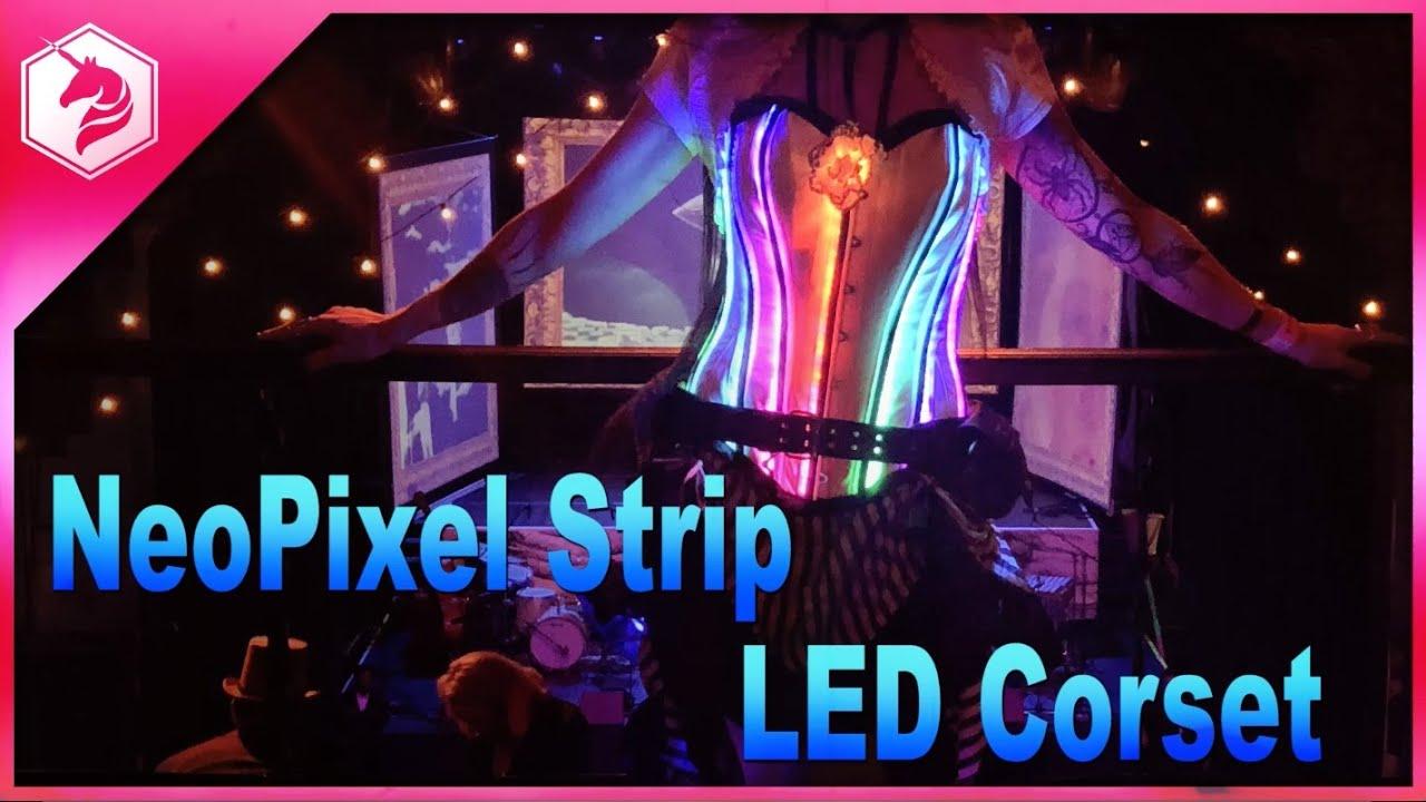 LED Corset Tutorial with Circuit Playground Express and MakeCode @adafruit  #adafruit